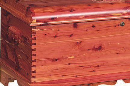 dovetail joints on a basic cedar chest