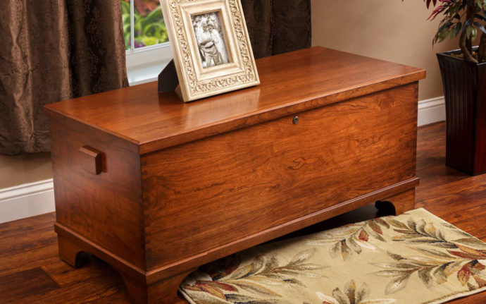 large charleston blanket chest in cherry