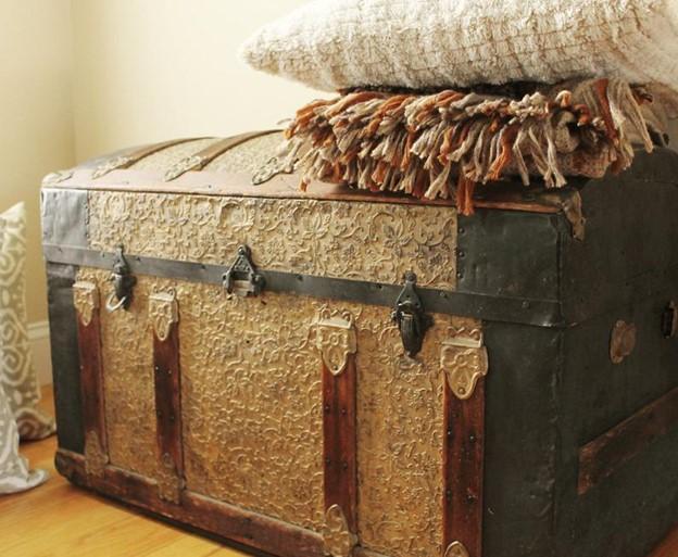 handmade steamer trunk