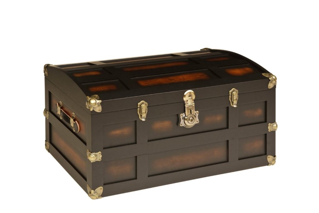 dome style steamer trunk
