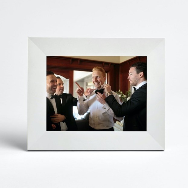expensive wedding gift of a electronic picture frame