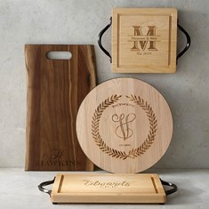 monogramed cuttingboards as an expensive wedding gift brings lasting meaning