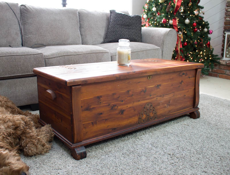 cedar chest storage in living room