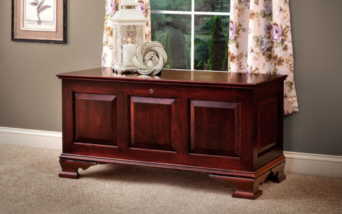 meduim mayflower classic vintage panel chest in cherry