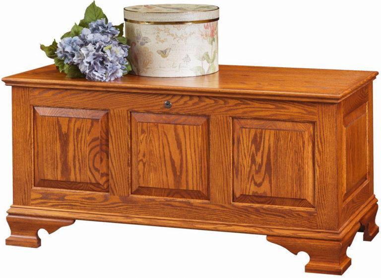 medium raised panel vintage chest in solid oak