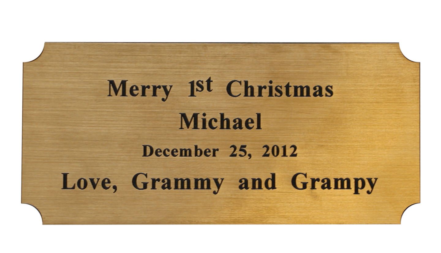 custom engraved name plate for reproction hope chest