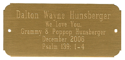 customized engraved name plate for mission style chest