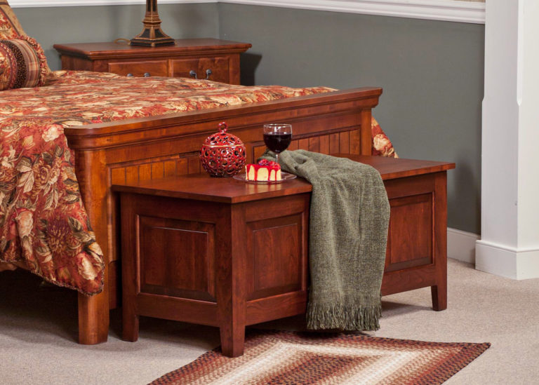 3 panel shaker style chest in cherry