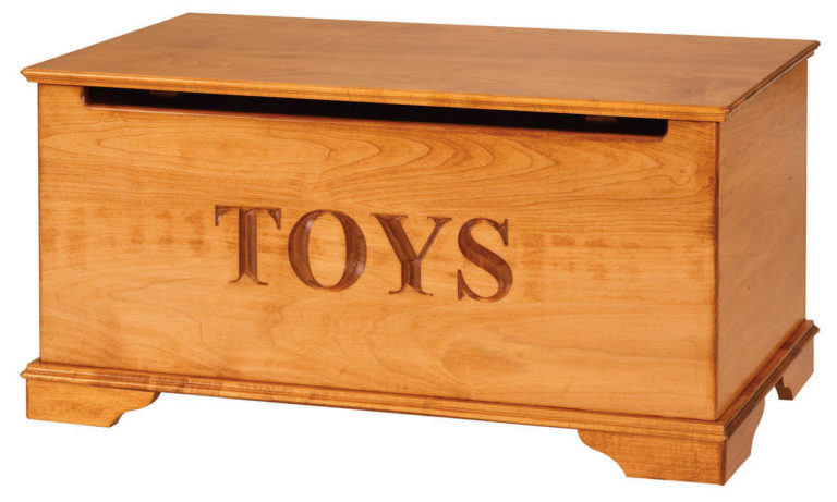 stained maple kids toy box